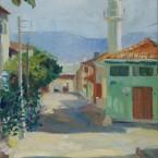 Izmit. Green minaret