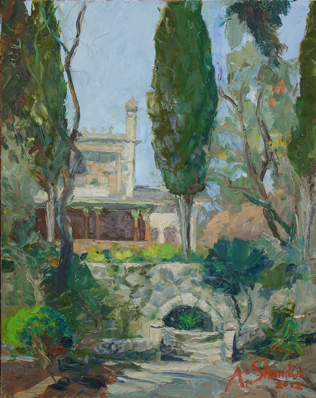 Beketov's House. Alushta. Oil on canvas. 80x100cm. 2012